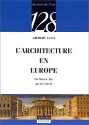 Cover of: L'architecture en Europe