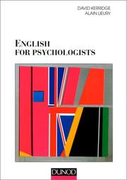 Cover of: English for psytchologists