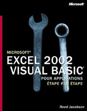 Cover of: Excel 2002 Visual Basic Application Etape par Etape