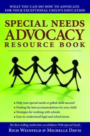 Cover of: Special Needs Advocacy Resource Book