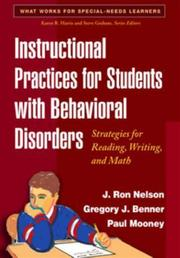 Cover of: Instructional Practices for Students with Behavioral Disorders