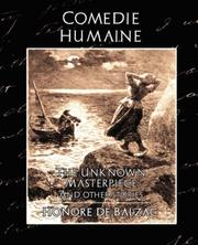 Cover of: Comedie Humaine - The Unknown Masterpiece (and other stories)