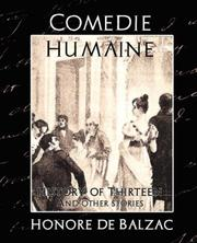 Cover of: Comedie Humaine - History of Thirteen