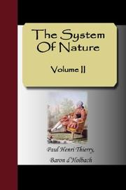 Cover of: The System Of Nature - Volume II