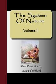 Cover of: The System Of Nature - Volume I