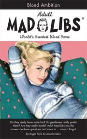Cover of: Blonde Ambition (Mad Libs)