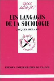 Cover of: Les langages de la sociologie