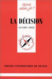 Cover of: La Décision