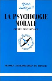 Cover of: La psychologie morale