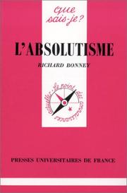 Cover of: L'Absolutisme