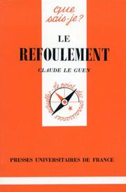 Cover of: Le Refoulement