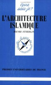 Cover of: L'Architecture islamique