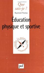 Cover of: L'Education physique et sportive