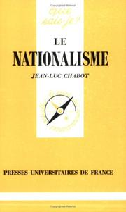 Cover of: Le Nationalisme