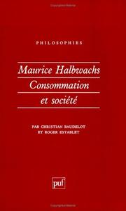Cover of: Maurice Halbwachs
