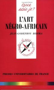 Cover of: L'Art négro-africain