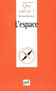 Cover of: L'Espace