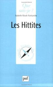Cover of: Les Hittites