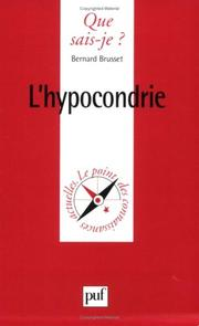 Cover of: L'Hypocondrie