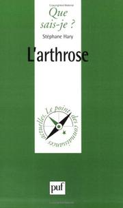 Cover of: L'Arthrose