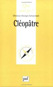 Cover of: Cléopâtre