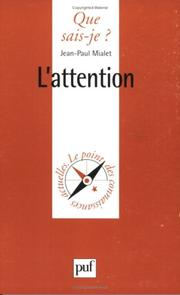Cover of: L'Attention
