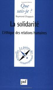 Cover of: La solidarité