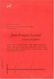 Cover of: l'exercice du différend