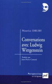 Cover of: Conversations avec Ludwig Wittgenstein