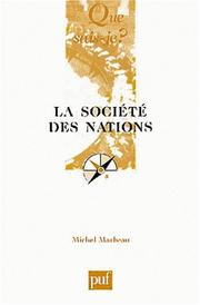 Cover of: La Société des Nations