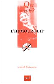 Cover of: L'Humour juif
