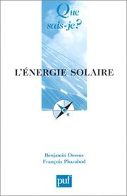 Cover of: L'Energie solaire