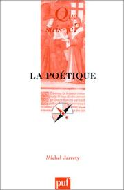 Cover of: La poétique