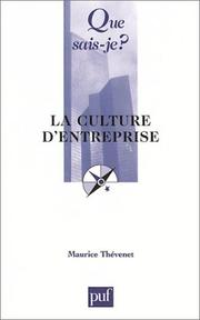 Cover of: La Culture d'entreprise