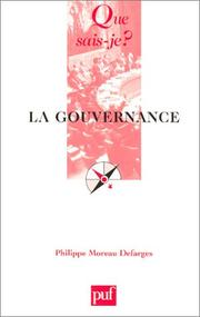 Cover of: La Gouvernance