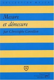 Cover of: Mesure et démesure