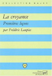 Cover of: La Croyance