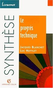 Cover of: Le progrès technique