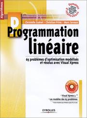 Cover of: Programmation linéaire