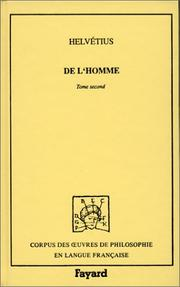 Cover of: De l'homme