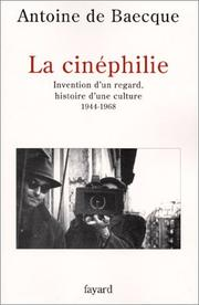 Cover of: La Cinéphilie
