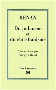 Cover of: Du judaïsme et du christianisme