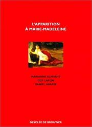 Cover of: L'Apparition à Marie-Madeleine