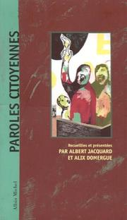 Cover of: Paroles citoyennes
