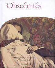 Cover of: Obscénités, photographies interdites d'Auguste Belloc