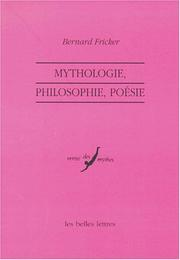 Cover of: Mythologie, philosophie, poesie