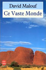Cover of: Ce vaste monde