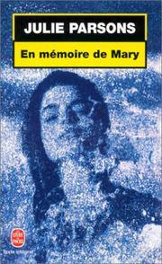 Cover of: En mémoire de Mary