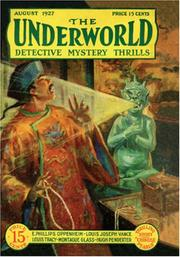 Cover of: The Underworld - August 1927