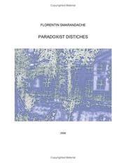 Cover of: Paradoxist Distiches [translated from Romanian by T. Iosifaru, F. Smarandache, M. & S. Dediu]